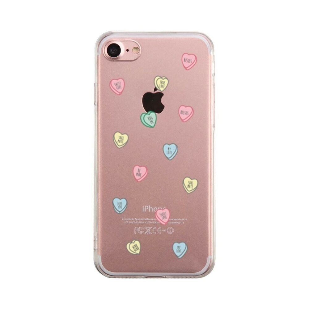 Contact Case: Sweethearts Candies Phone Case Cute Clear Phonecase
