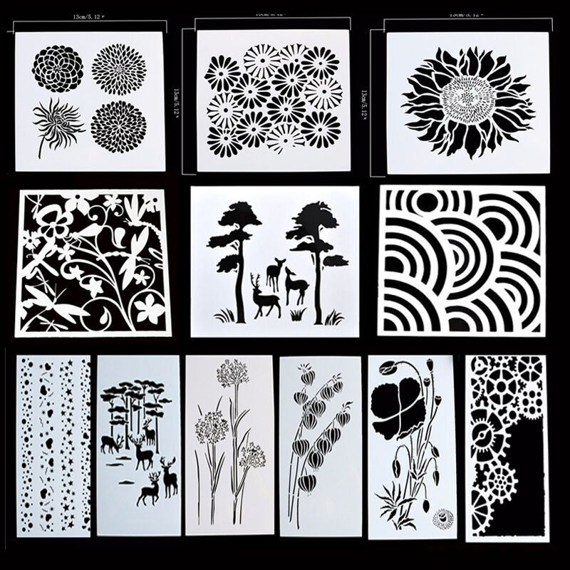 reusable stencil airbrush painting art diy home decor