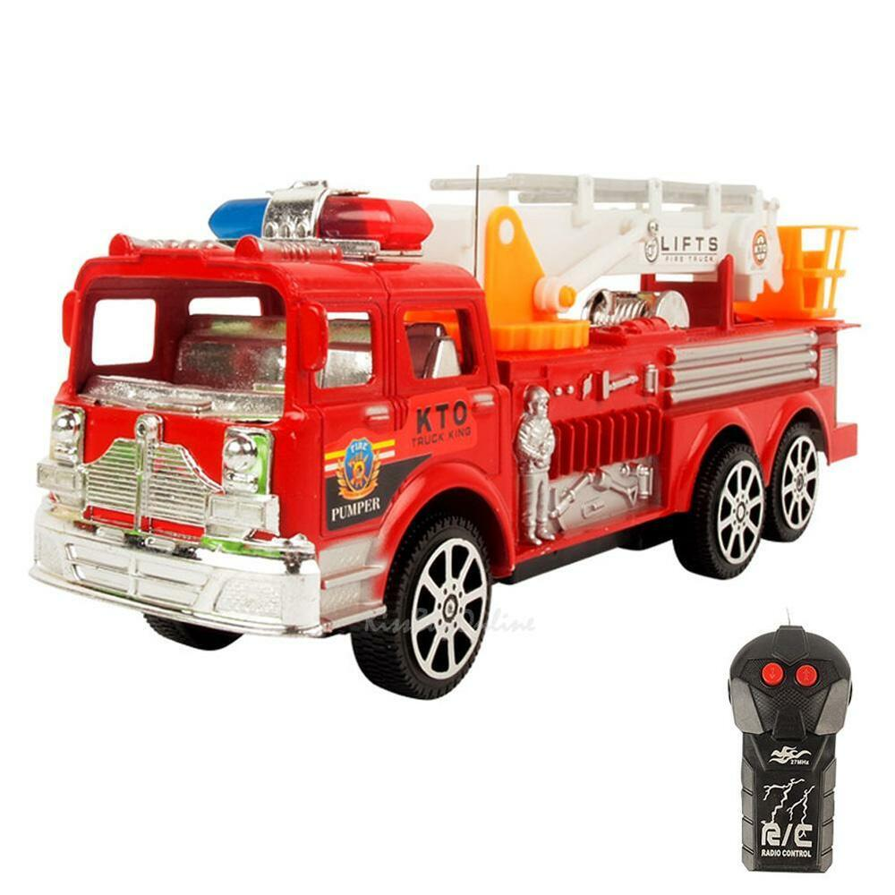 Truck Toys For 3 Year Olds : Remote control electric simulation fire fighting truck for