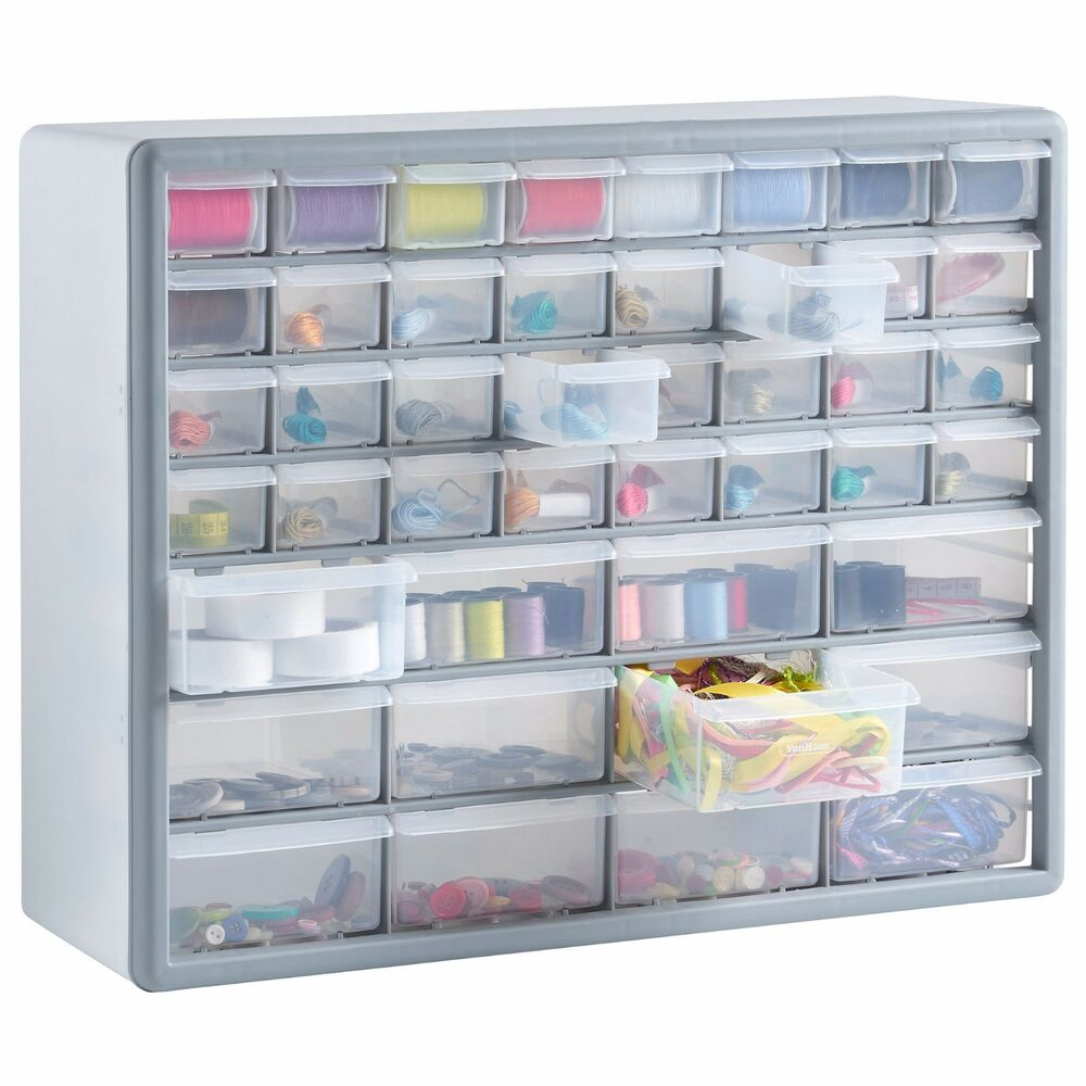 Vonhaus 44 Multi Drawer Organiser Nail Bolt Screw Craft