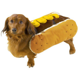 Hot Dog MUSTARD Dog Puppy Hot Diggity Costume Party Halloween Plush Misc Sizes
