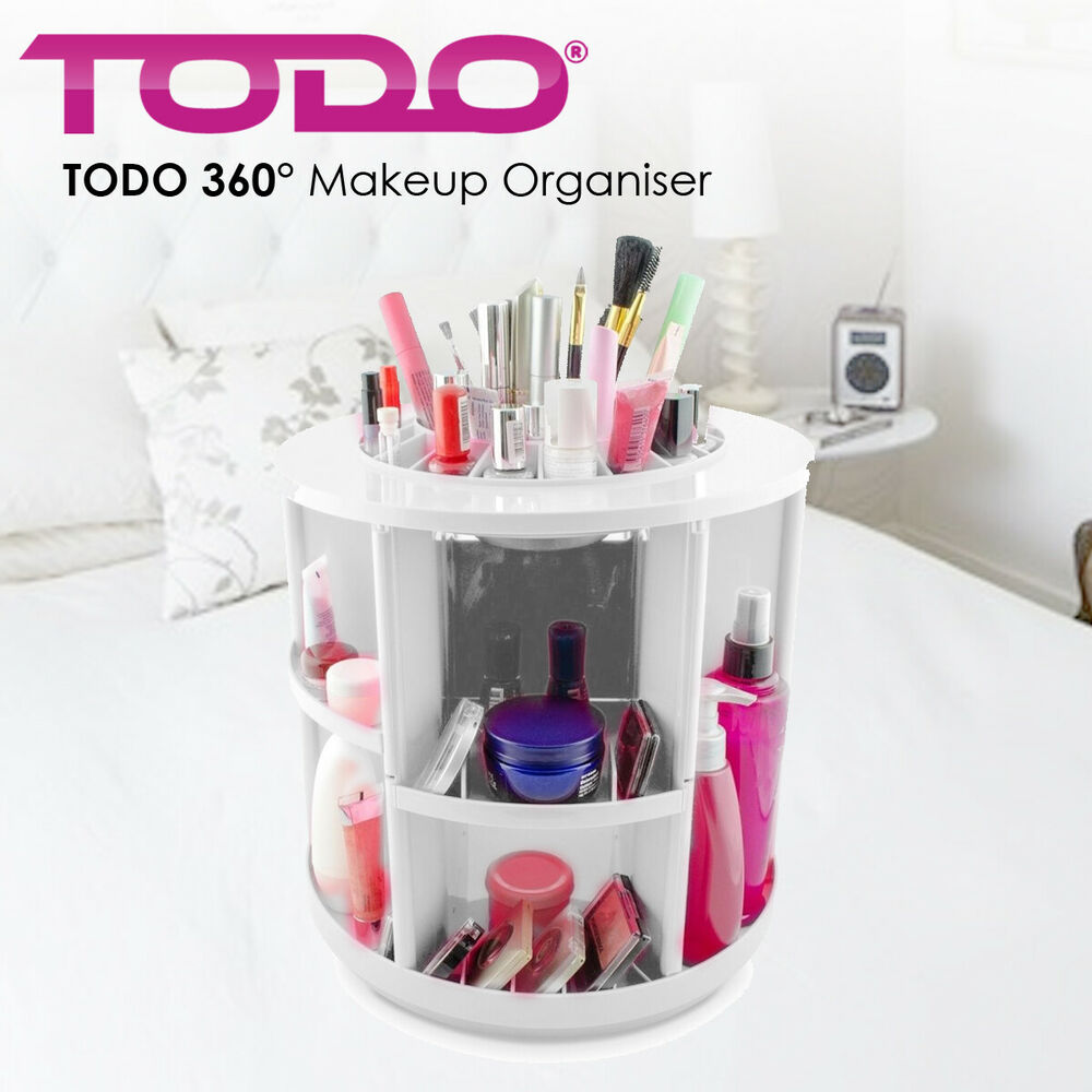 Rotating Makeup Organizer Container Spinning Hanger