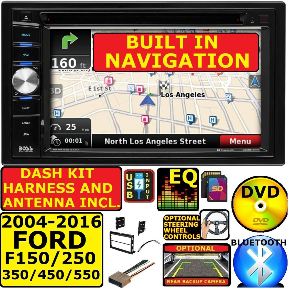 2004 2016 Ford F250 350 450 550 Bluetooth Dvd Car Stereo