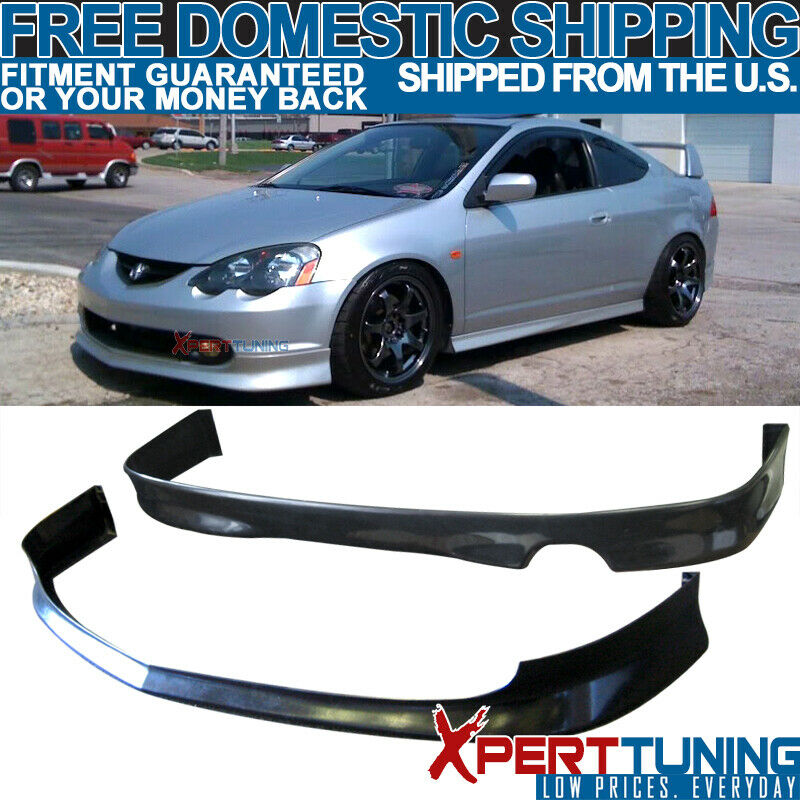 Fit 02 03 04 Acura RSX Type-S Front Rear Bumper Lip