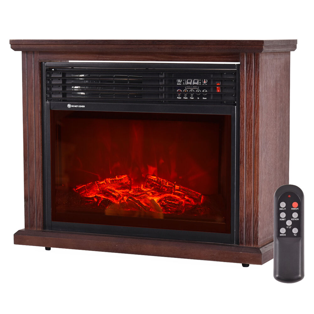 28 Quot Free Standing Electric Fireplace 1500w Glass View Log