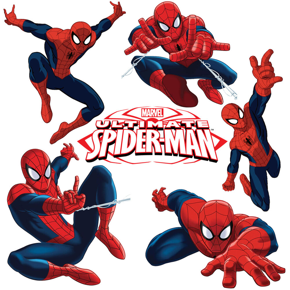 Spiderman Stickers For Kids Room Wall Decor Spider Man
