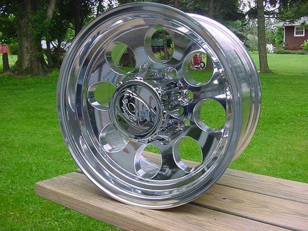 "16X8"" ION POLISHED 8 LUG BAJA STYLE DODGE CHEVY FORD 8 ON 6.5 BP 171 SERIES caps 