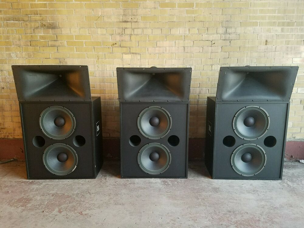 speakers jbl professional. (3) jbl professional series 3622n movie theater cinema loud speakers 400w 4ohm jbl