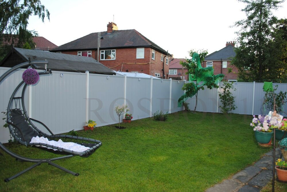 Pvc plastic fence panels with posts reinforced metal