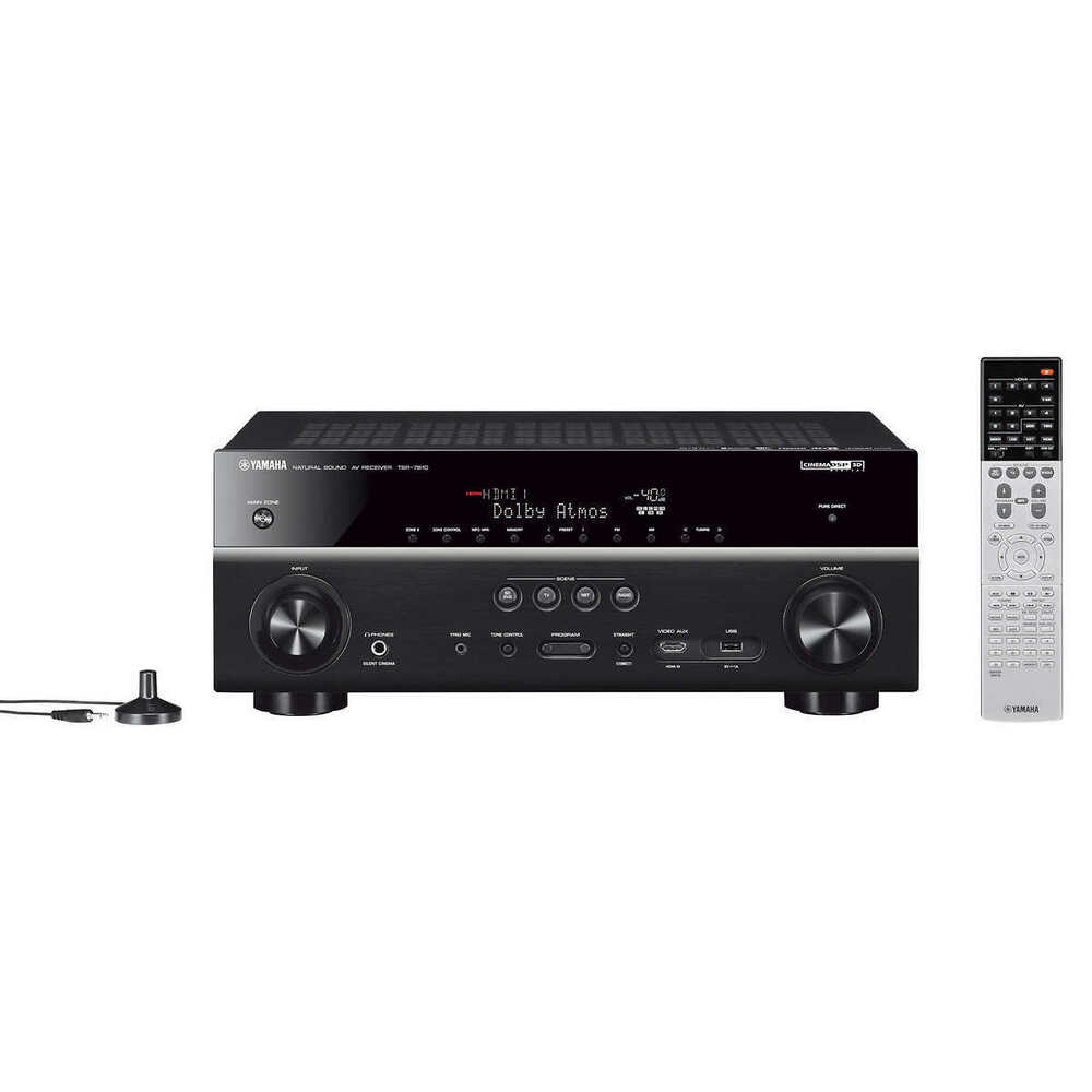 Yamaha tsr 7810 7 2 channel 4k ultra network bluetooth for Yamaha tv receiver