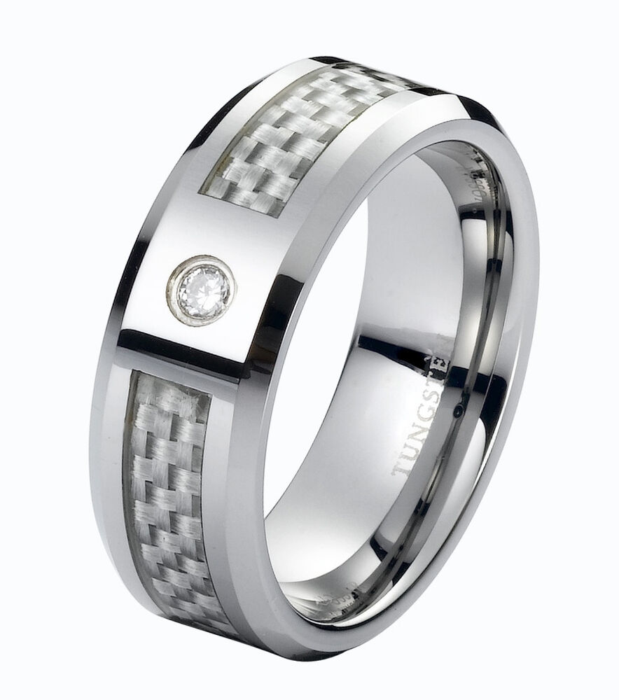 tungsten wedding rings real wedding band ring tungsten carbide 8mm modern 8108