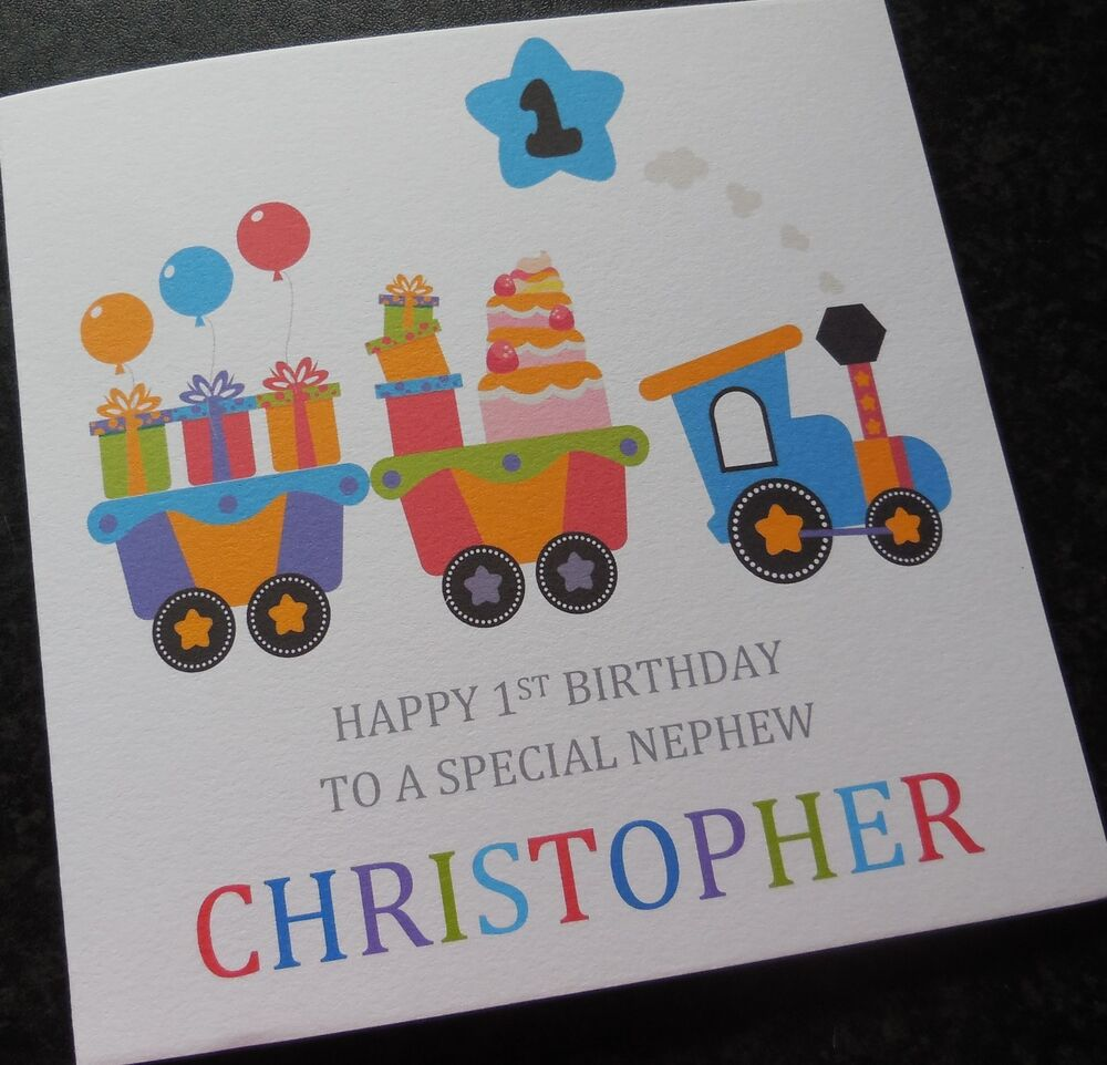 Personalised Boys First Birthday Card Bubbles By August: Personalised Boys 1st First Birthday Card