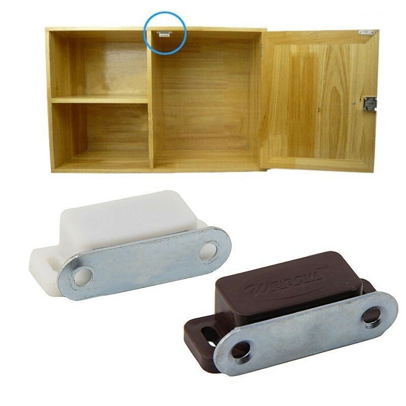 10Pcs Small Magnetic Door Catches Cupboard Wardrobe
