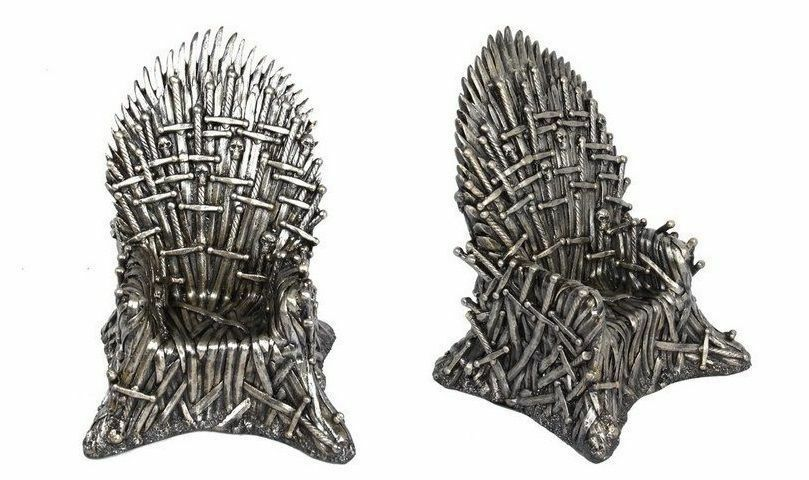 New Game Of Thrones Bronzed Chair Statue Desk Replica