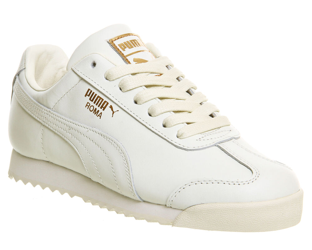 2dde615175e8ef Details about Womens Puma Roma WHISPER WHITE LEATHER