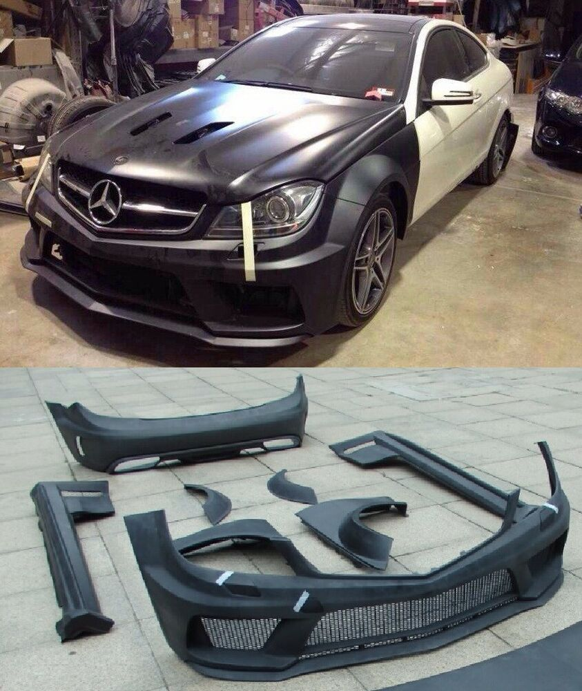 wide bodykit black series amg for mercedes benz c63 class. Black Bedroom Furniture Sets. Home Design Ideas
