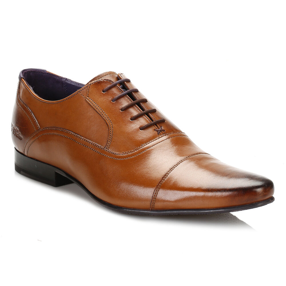 6fbb7d3d583e8 Details about Ted Baker Mens Formal Shoes Tan Brown Rogrr 2 Leather Lace Up  Smart Dress