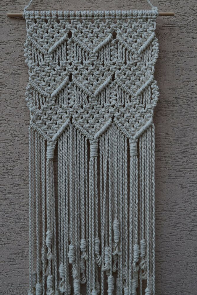 macrame history home decorative modern macrame wall hanging ebay 3273