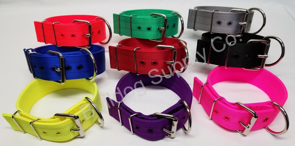 2 Quot 3 Ply Nylon Heavy Duty Dog Collar For Pit Bull Amp Large