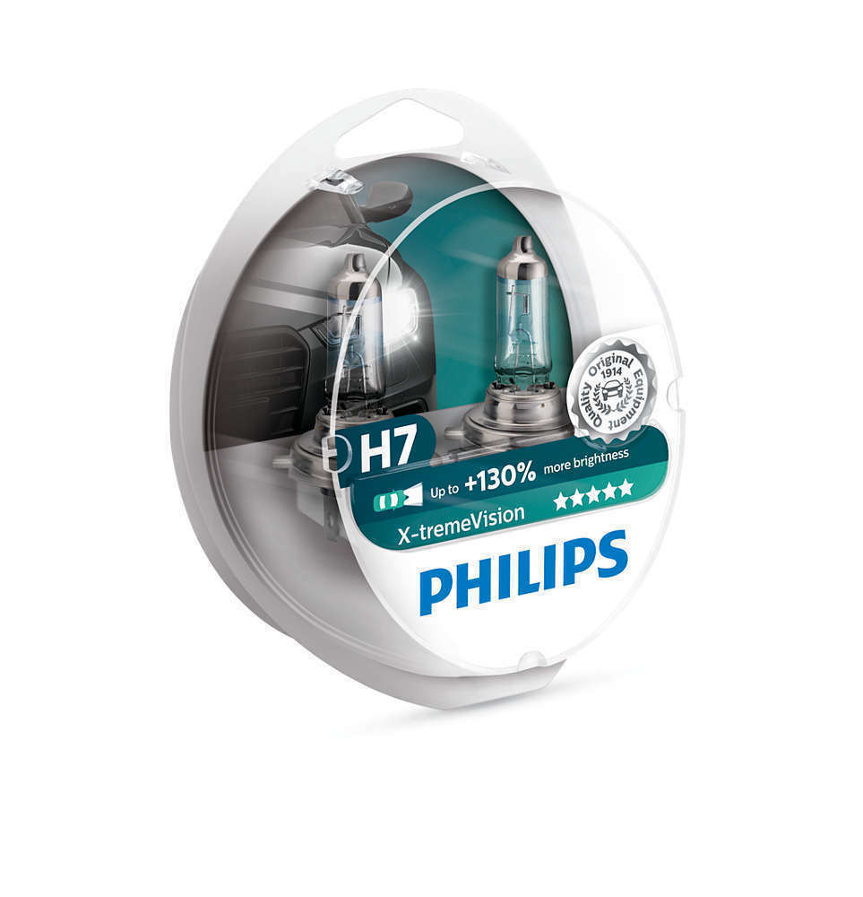 philips x treme vision 100 headlight bulbs h7 12v55w pair ebay. Black Bedroom Furniture Sets. Home Design Ideas