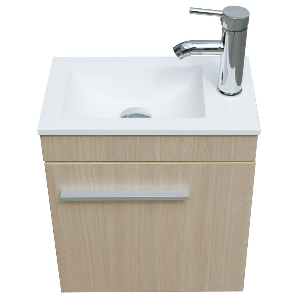 Modern bathroom vanity wall mount wood cabinet undermount sink faucet drain set ebay - Kona modern bathroom vanity set ...