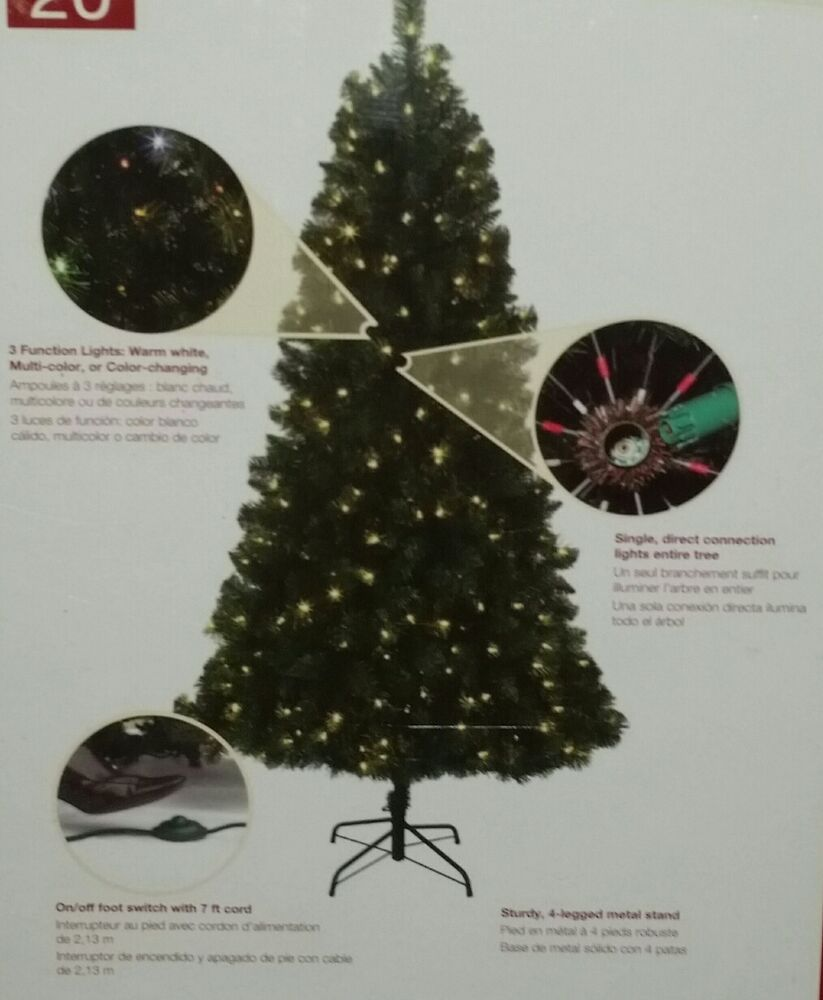 Color Switch Christmas Tree: NEW 6.5' LED PreLit ALPINE Pine Christmas Tree COLOR