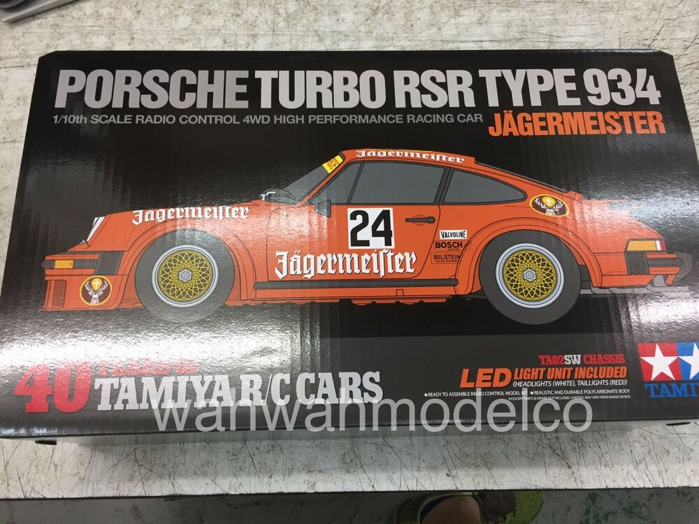 tamiya 84431 1 10 rc car ta02sw chassis jagermeister porsche 934 turbo rsr ki. Black Bedroom Furniture Sets. Home Design Ideas