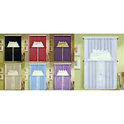 1 SET KITCHEN DRESSING WINDOW CURTAIN VOILE SHEER DRAPE TIERS SWAG VALANCE K66
