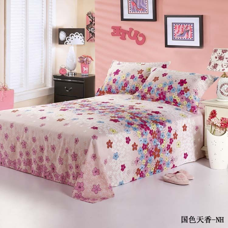 single double queen king size bed 1pc flat sheet printed 100 cotton 2023062 ebay. Black Bedroom Furniture Sets. Home Design Ideas
