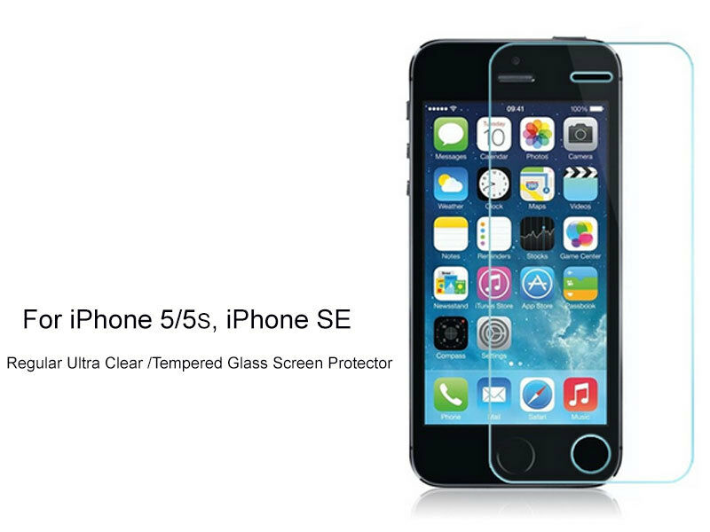 tempered glass iphone 5s 2xregular ultra clear tempered glass screen protector for 16256