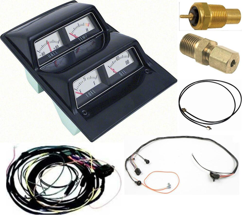 Oer 1969 Camaro Console Gauges W   Wiring Install Kit Mt 69