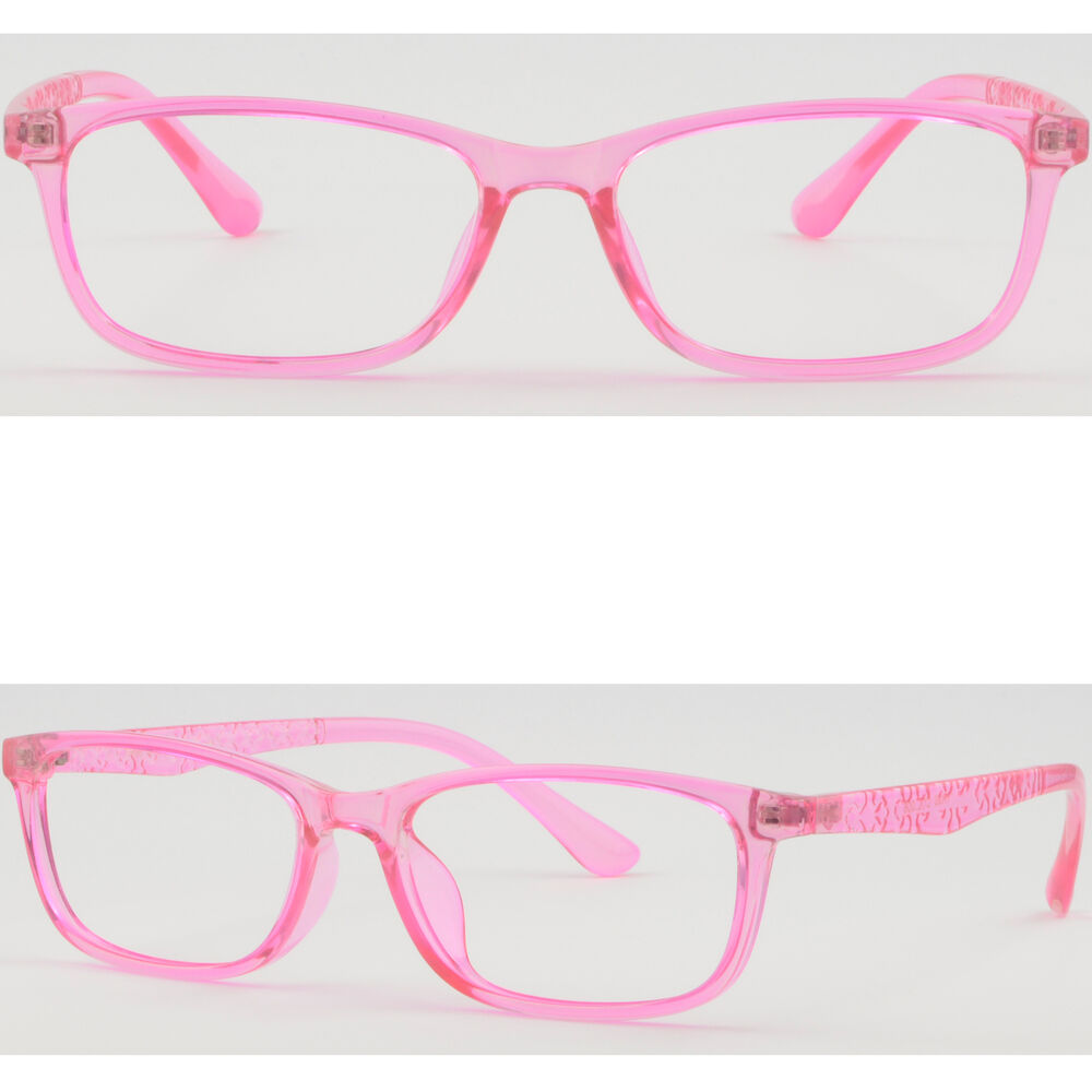 ec5ee56fe59 Details about Ultra Light Petite Women s Memory Plastic Frame TR90 RX  Glasses Translucent Pink