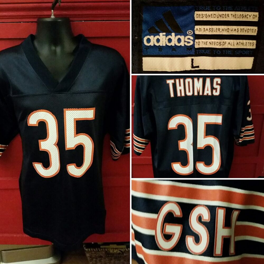Details about Adidas Jersey  35 Anthony Thomas Chicago Bears GSH NFL  Football Mens Size Large 08e2e7060