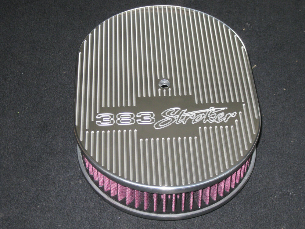 Chevy 350 air filter ebay ghost bowtie 383 stroker 12 inch oval air cleaner billet aluminum kn filter sciox Choice Image