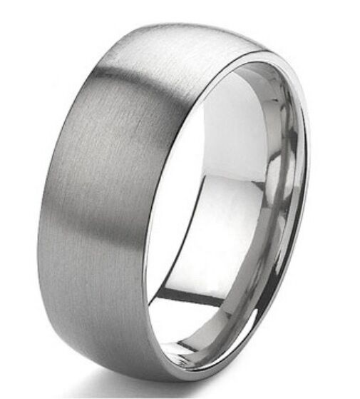 Mens classic wedding ring band stainless steel sizes 7 16 for Mens stainless steel wedding rings