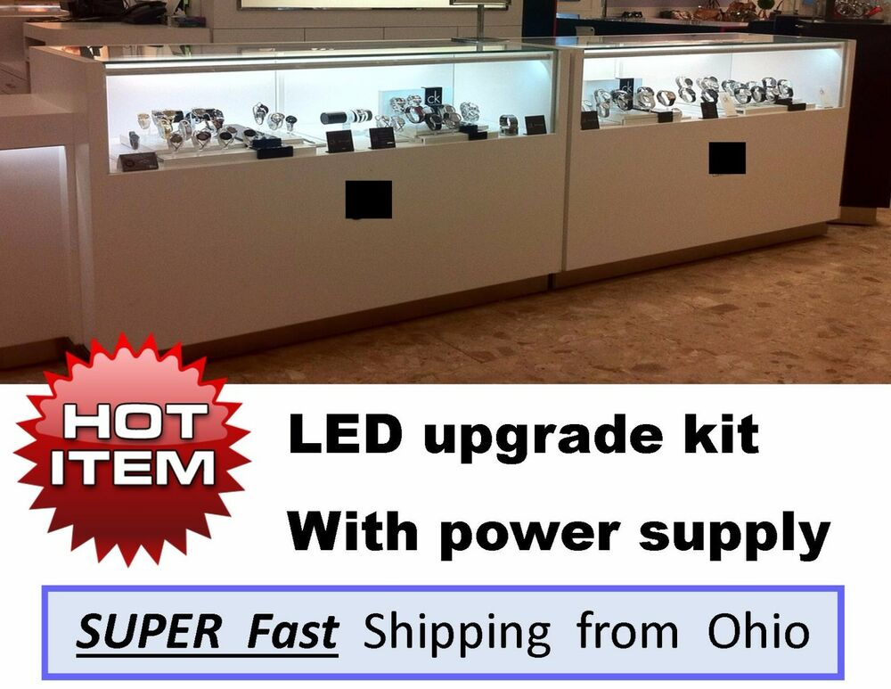4ft Led Shop Light >> DIAMOND enhancing LED light kits - Jewelry Showcase / Display Case Lights | eBay