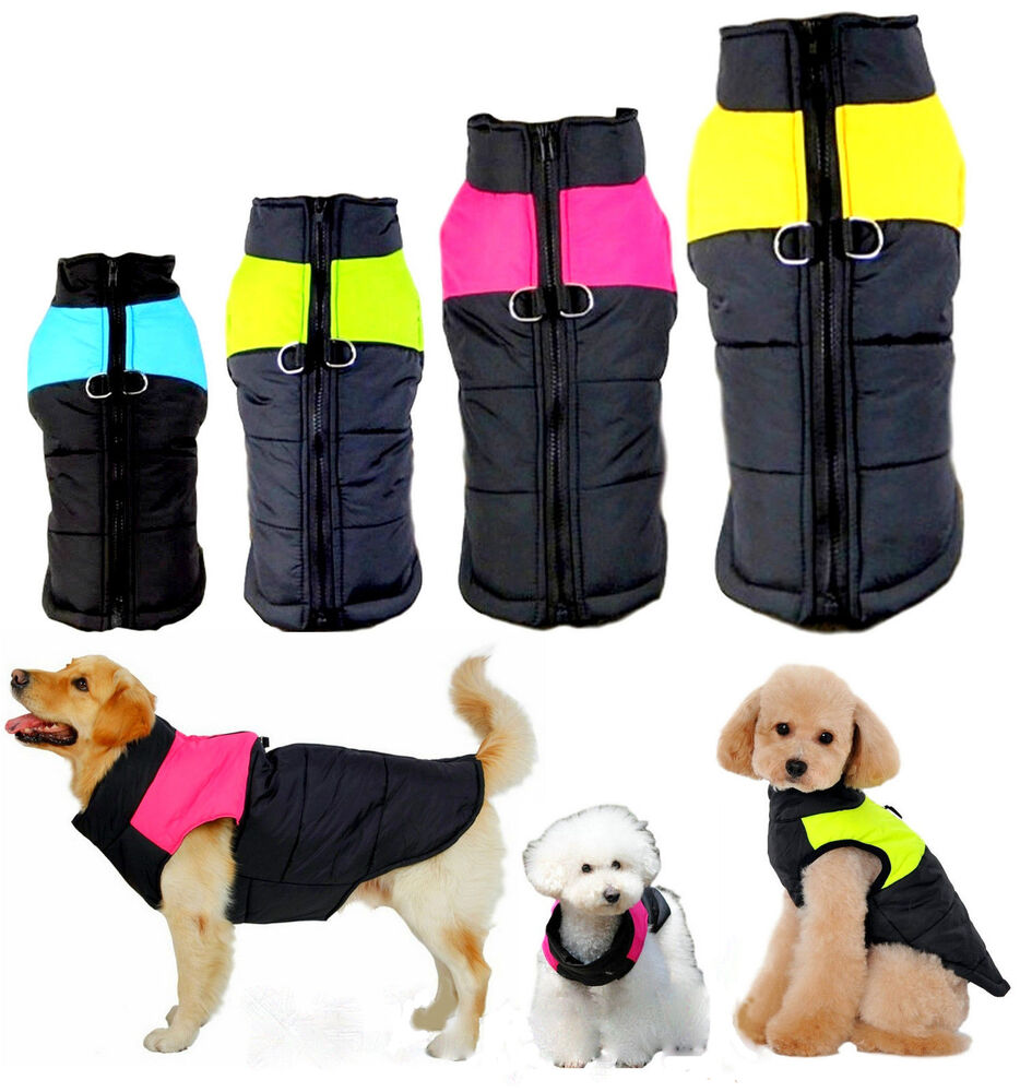 Winter Warm 8-Sizes Dog Clothes Padded Coat Pet Vest ...