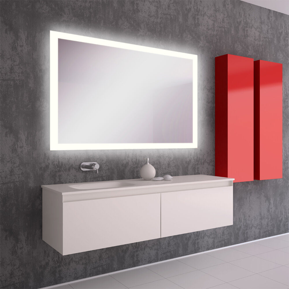 led bain miroir de la salle avec clairage sale mural sofia ebay. Black Bedroom Furniture Sets. Home Design Ideas