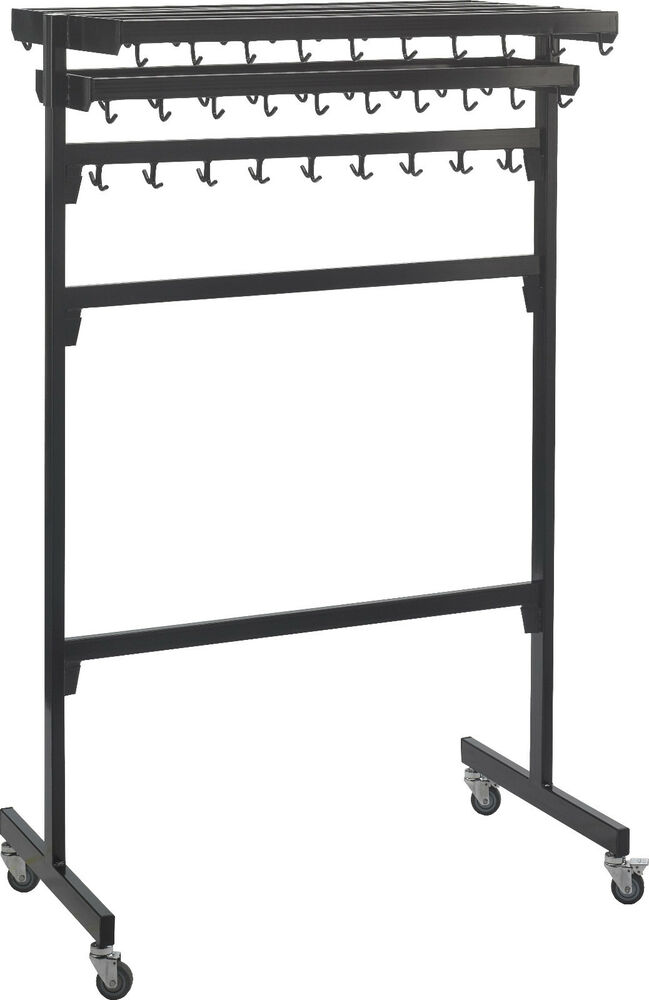 garderobe 60 haken stahl rollbar zerlegbar perfekt f r. Black Bedroom Furniture Sets. Home Design Ideas