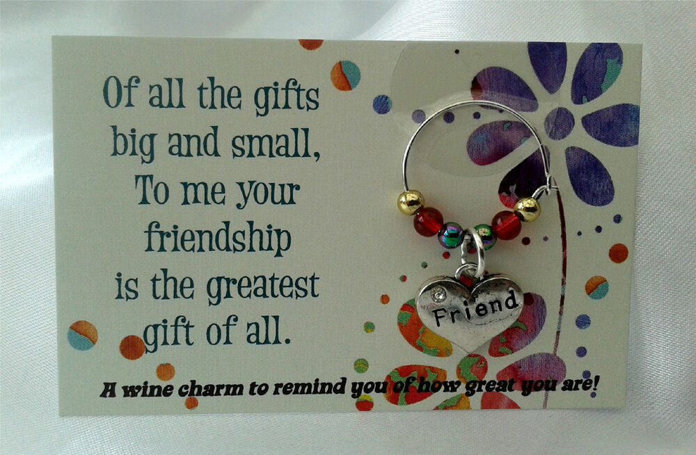 Friendship Wine Charm Gift Birthday For Him Her Special Friend Thank