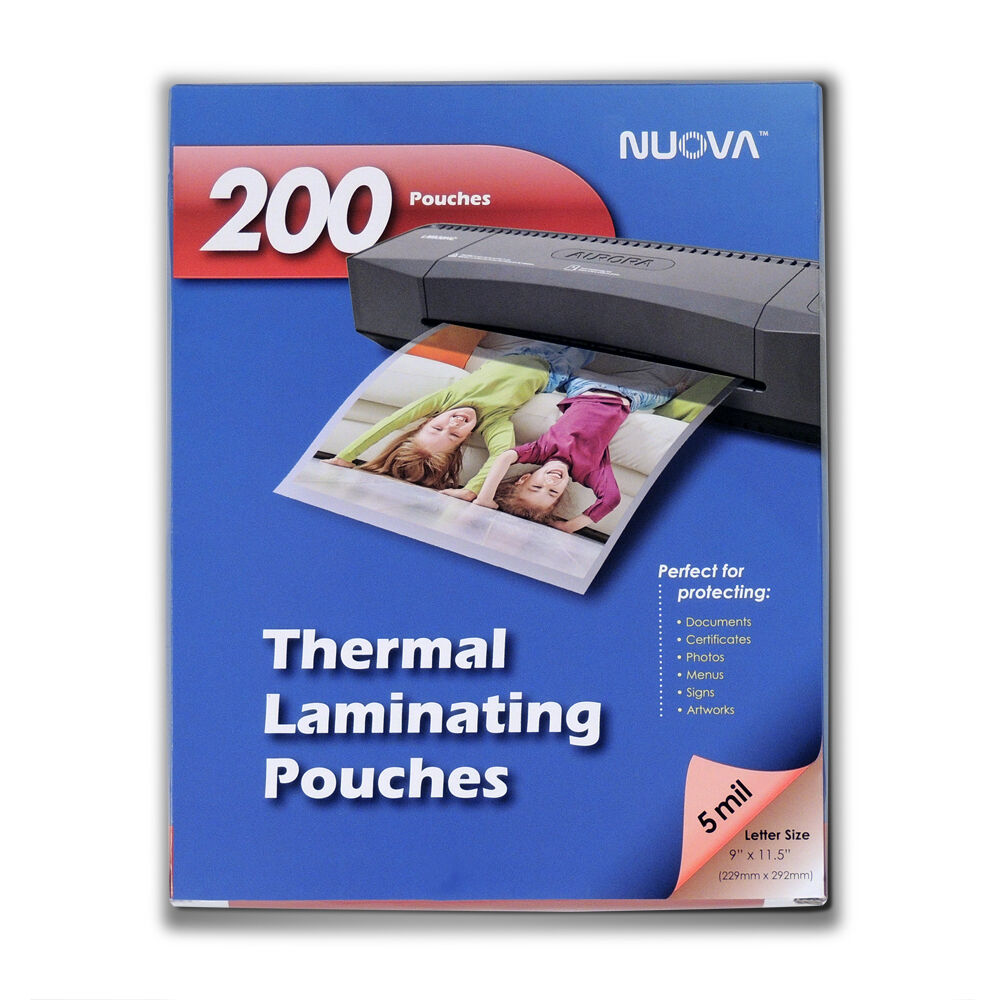 Nuova 200 pack 5 mil thermal laminating pouches 9 x 115 for 5 mil laminating pouches letter size