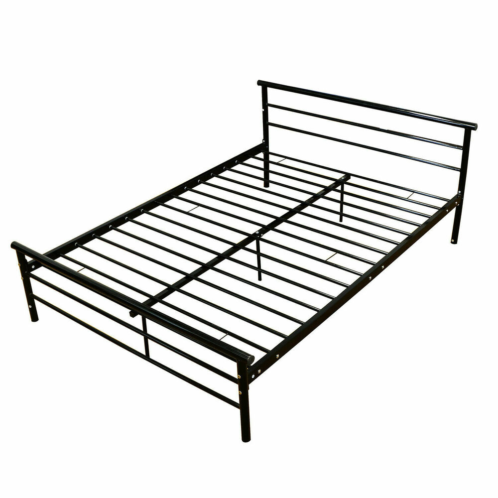 full slat size wood bed frame platform headboard footboard bedroom furniture new ebay. Black Bedroom Furniture Sets. Home Design Ideas
