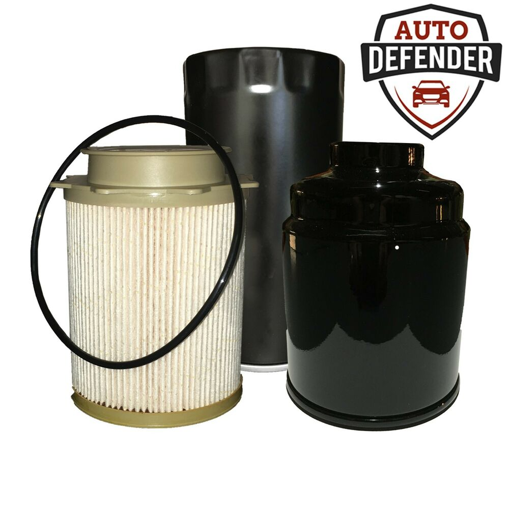 2 fuel 1 oil filter for 2013 2017 dodge ram 2500 3500. Black Bedroom Furniture Sets. Home Design Ideas