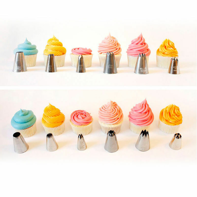 New 14PC PRO Pastry Icing Piping Bag Nozzle Fondant Cake ...