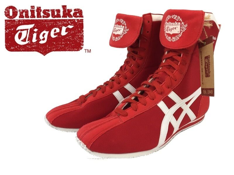 Red Asics Boxing Shoes