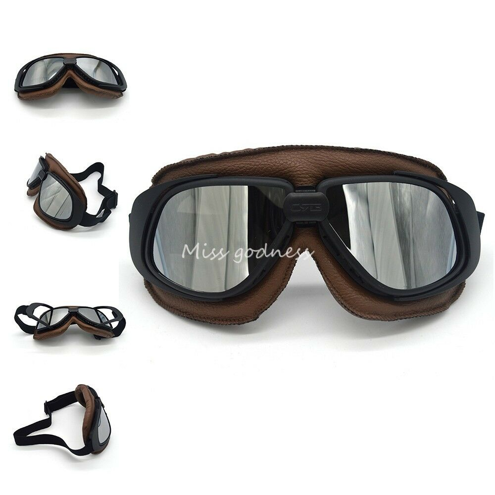 cool vintage motorcycle helmet goggles scooter glasses for harley style team