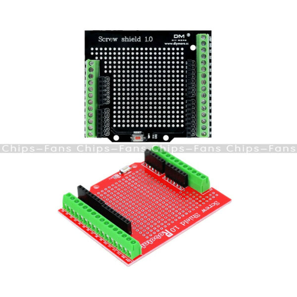 Black/Red Screw Shield Assembled Terminal Expansion Board Proto Type for Arduino