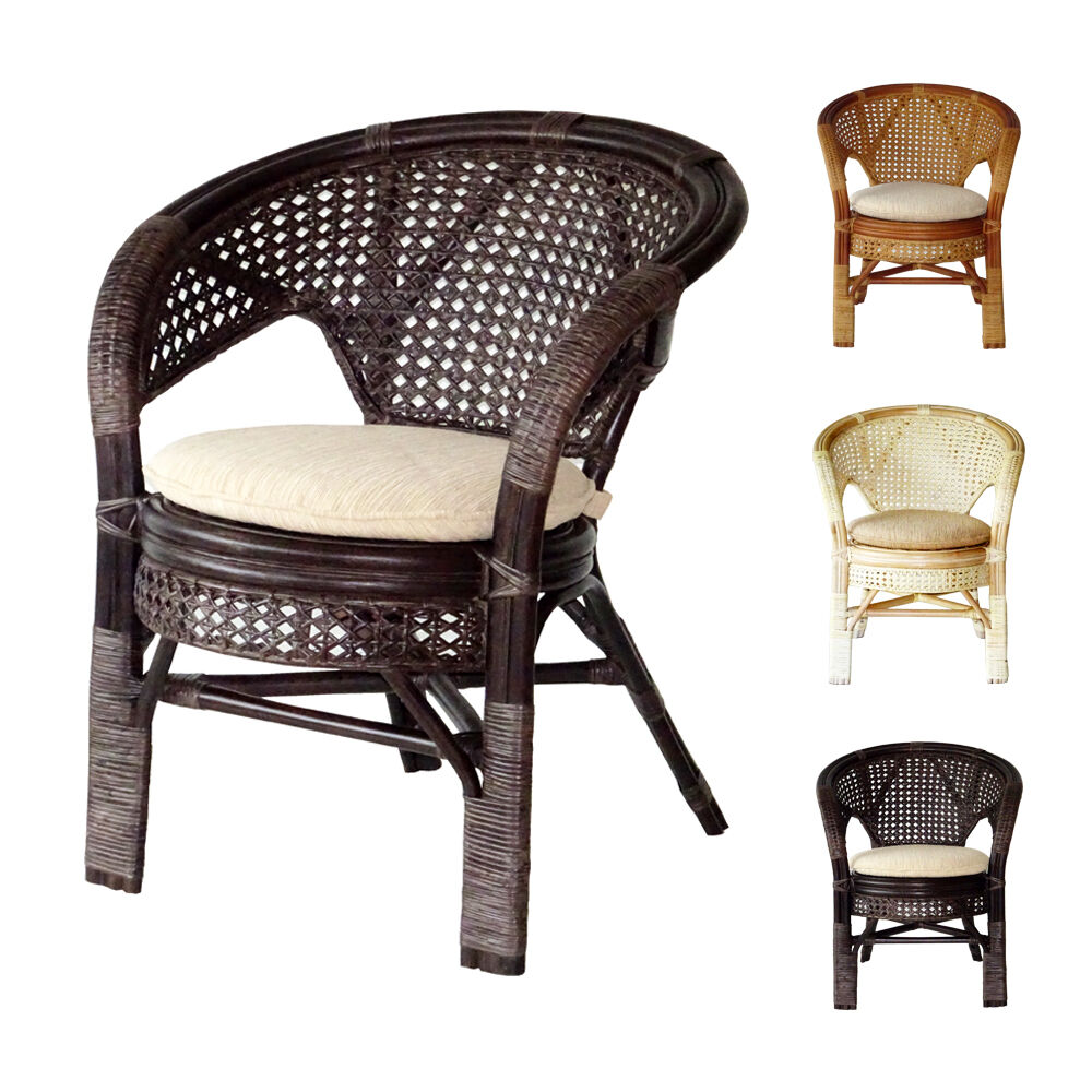 Rattan Dining Chairs: Pelangi Handmade Rattan Wicker Dining Lounge Chair W