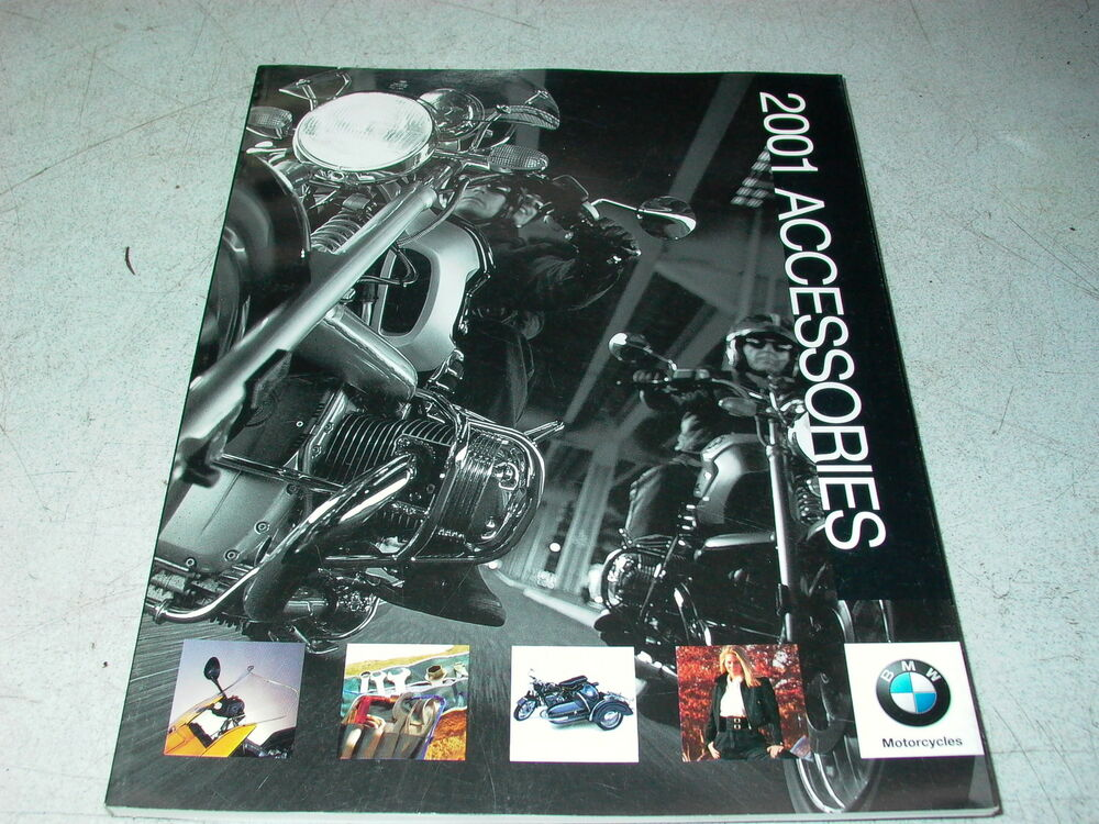 2001 bmw motorcycle accessories catalog r1200c f650gs r1100s k1200rs r1100r k75s ebay. Black Bedroom Furniture Sets. Home Design Ideas