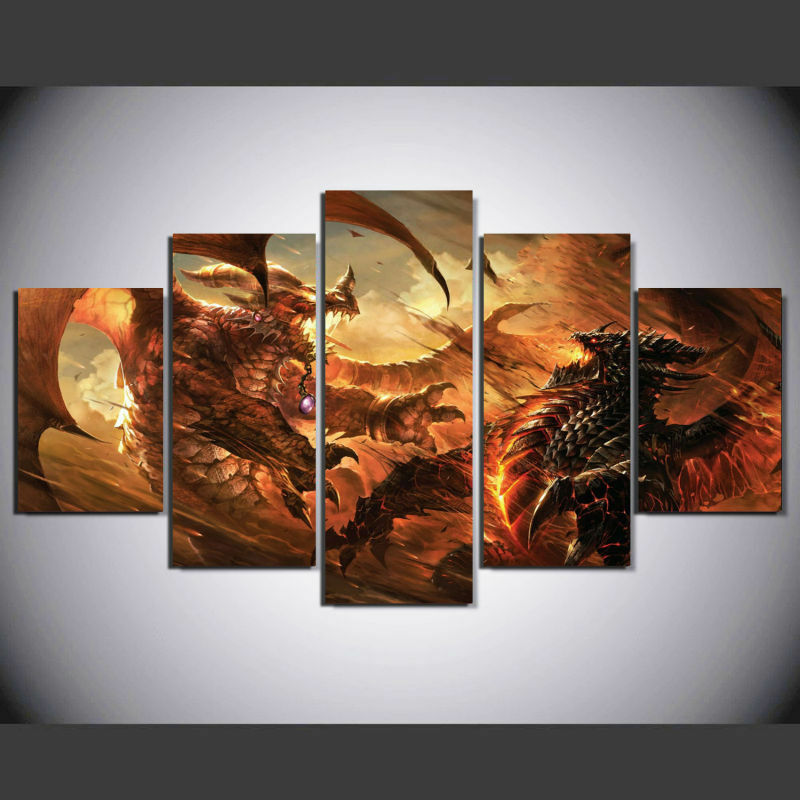 Framed HD Canvas Wall Art World of Warcraft Cataclysm Picture Home ...
